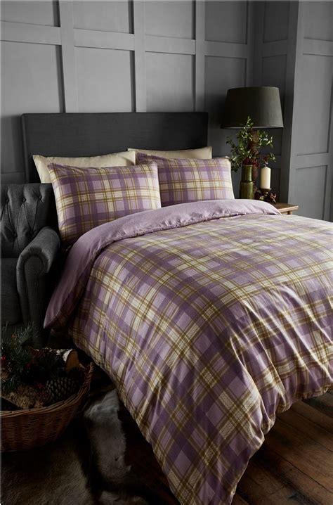 tartan bed linen 100 brushed cotton tartan quilt duvet cover pillowcase
