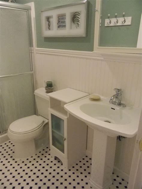 wainscotting bathroom bathroom with wainscoting my yellow house pinterest
