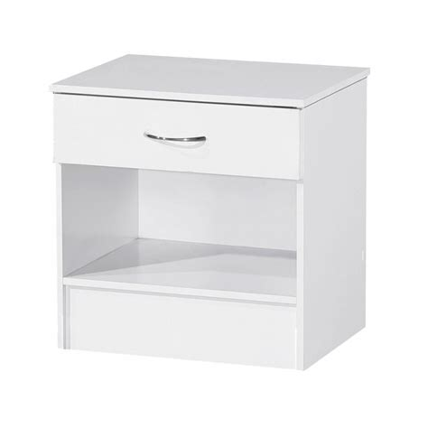 Alpha Drawers by Alpha White Gloss Two Tone 1 Drawer Bedside Bedside