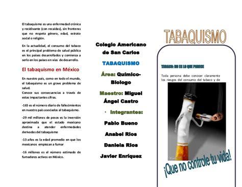 preguntas guias para hacer una monografia tr 205 ptico sobre el tabaquismo
