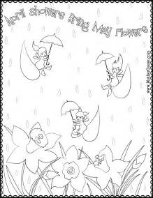 april showers coloring page - April Showers Coloring Pages