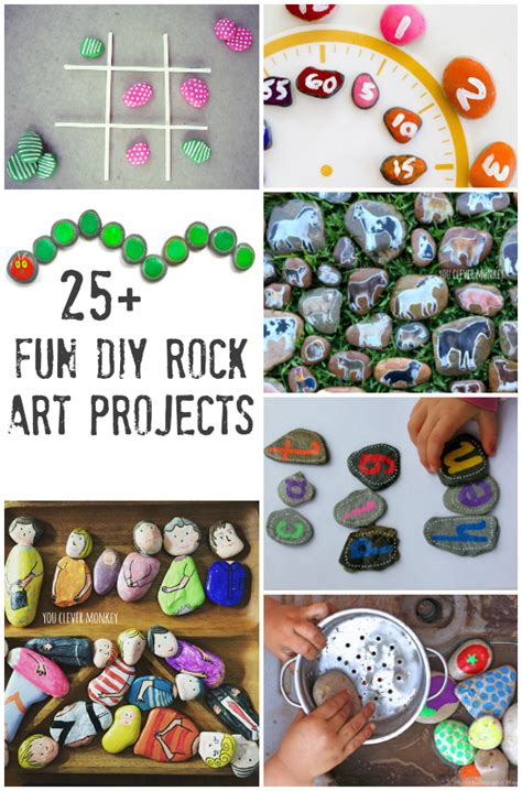 rock craft projects 25 diy rock craft projects to make you clever monkey