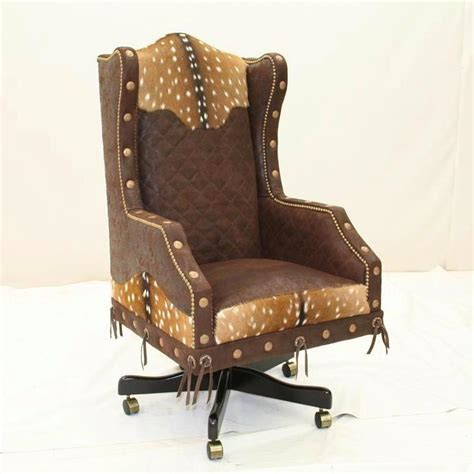 western executive chair rustic desk chair western desk