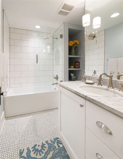 Bathroom Subway Tiles - 6 tips to remodeling a busy bathroom by highcraft builders
