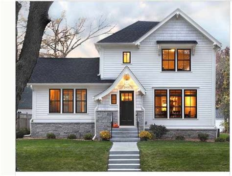 white siding house pictures white siding black roof grey brick facades pinterest traditional exterior