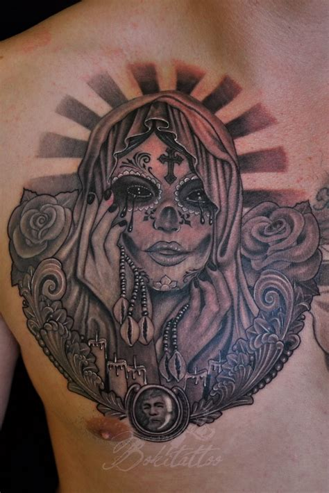 santa muerte tattoo design santa muerte by bokitattoo on deviantart