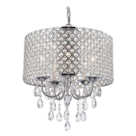 crystal l shade chandelier crystal chrome chandelier pendant light with beaded drum