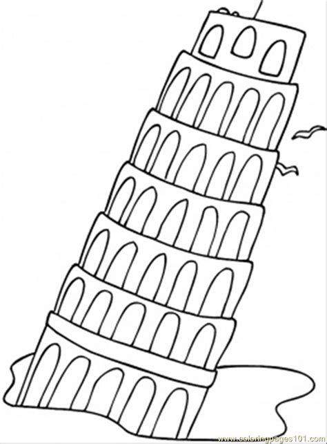 coloring page italy falling tower coloring page free printable coloring pages