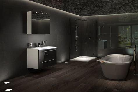 dunkle fliesen dunkel badezimmer design