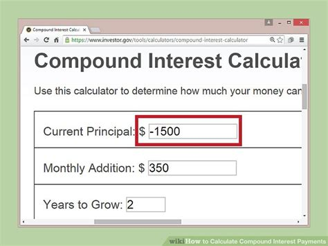 4 ways to calculate compound interest payments wikihow