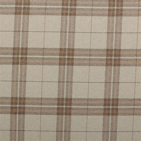upholstery fabric check traditional tartan check soft twill cotton faux wool