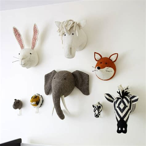 Decorative Animal Heads by Decorative Felt Animal By Ella