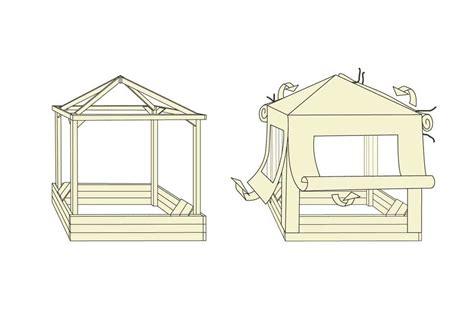 pavillon kinder sandkasten toni aus holz mit dach kinder pavillon