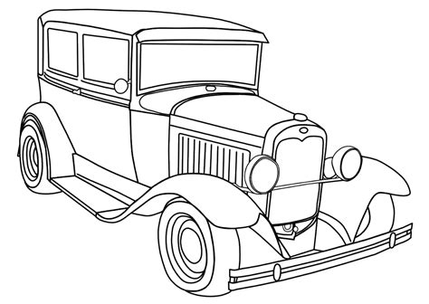 Antique Car And The Unique Design Coloring Pages For Boys | antique car and the unique design coloring pages for boys