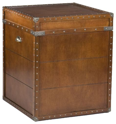 Trunk Side Table Bristol Trunk End Table Traditional Side Tables And End Tables By Shop Chimney