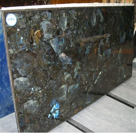 Semi Precious Countertops by Labradorite Backlit Artificial Marble Engineered And