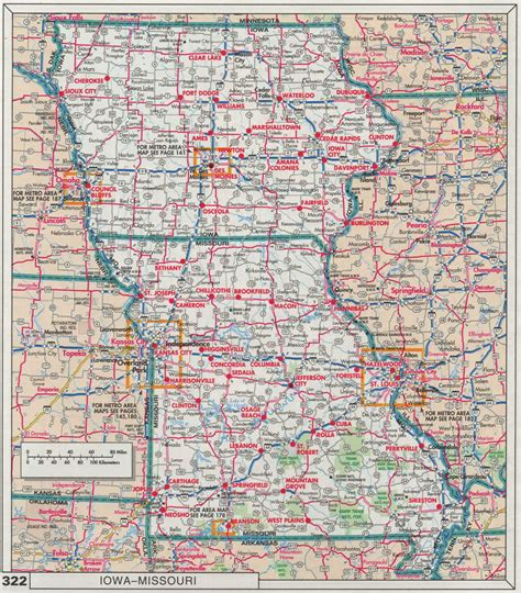 missouri road map index of maps