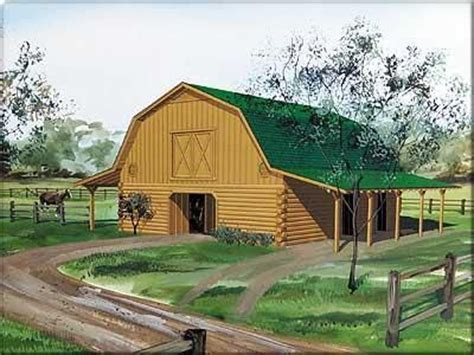 log barn plans log home a gambrel roofed log barns living quarters