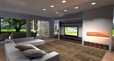 parete camino e tv villa nel verde esempio di progetto