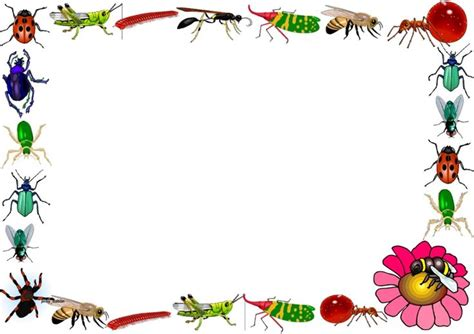 printable insect writing paper a set of insects themed lined paper and page borders for