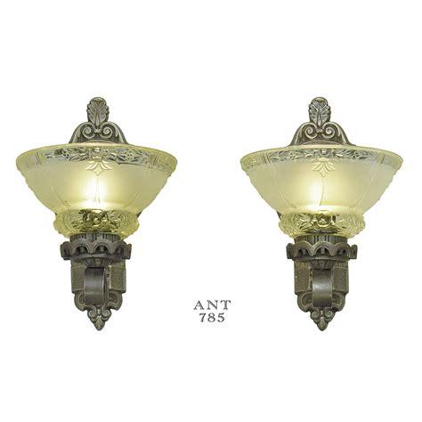 Edwardian Light Fixtures Antique Wall Sconces Edwardian Lighting Fixtures Cup Shade Lights Ant 785 For Sale Antiques