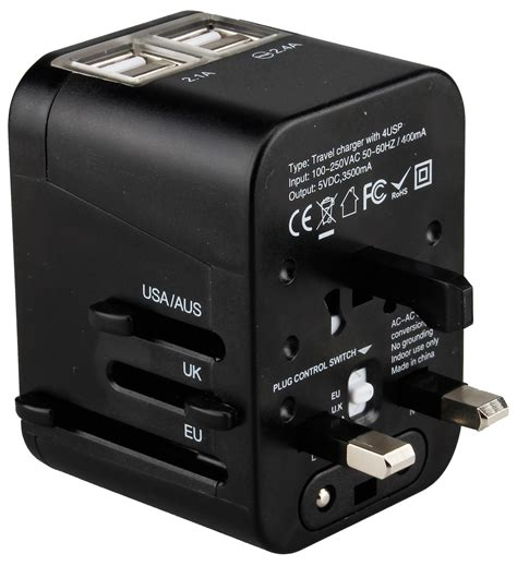 pac2go universal travel adapter with usb