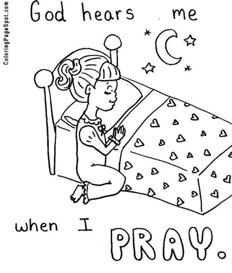 coloring page prayer praying printable clip praying coloring