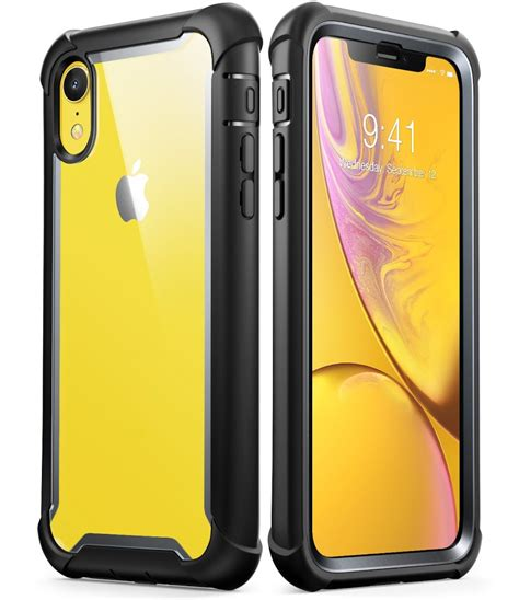 iphone xr i blason ares rugged clear bumper with built in screen