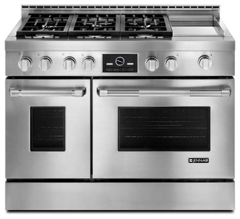jenn air 48 quot pro style gas range stainless steel