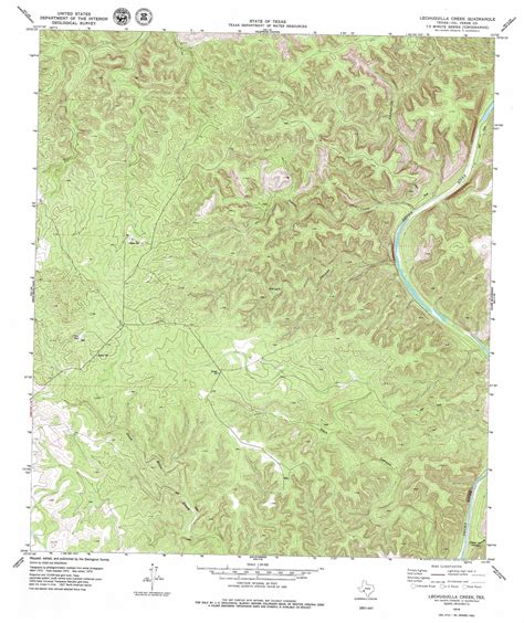 topographic map of texas lechuguilla creek topographic map tx usgs topo 29101g1