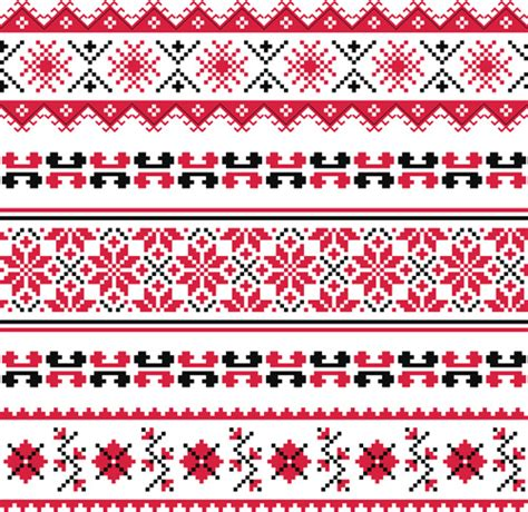 fabric pattern styles ukraine style fabric pattern vector free vector in