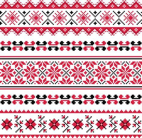 fabric pattern in vector ukraine style fabric pattern vector free vector in