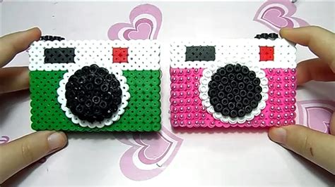 camara de fotos 3d fotocamera 3d con pyssla hama beads quot c 225 mara perlerbeads