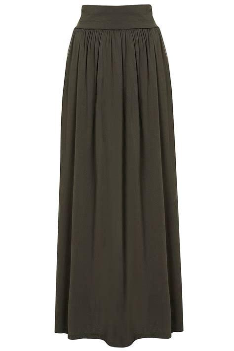 khaki fold maxi skirt topshop price 163 18 00 a w