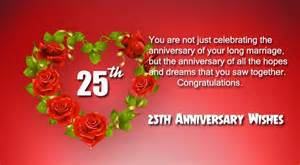 happy 25th anniversary wishes for and