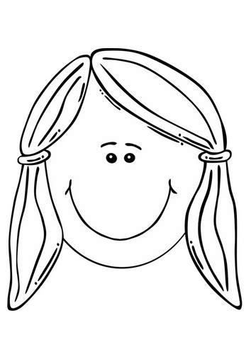girl head coloring page coloring page girl s face figura humana autoretrato