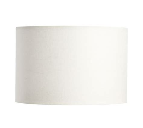 straight sided drum l shade gallery straight sided linen drum l shade pottery barn