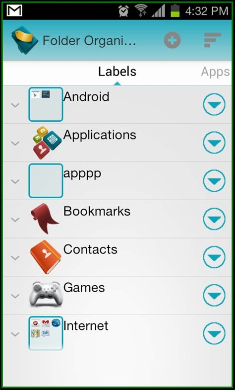 label design android how to organize arrange apps in folders on android with