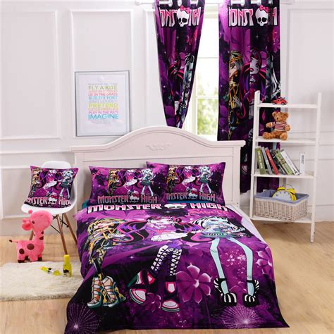 monster high full comforter monster high bed cover monster high bedding set for kids