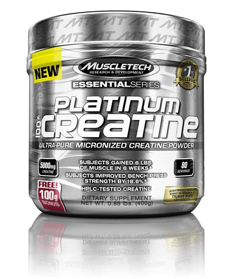 6 creatine monohydrate new muscletech supplements platinum 100 creatine