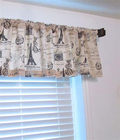eiffel tower curtains window valance french st eiffel tower rod pocket by