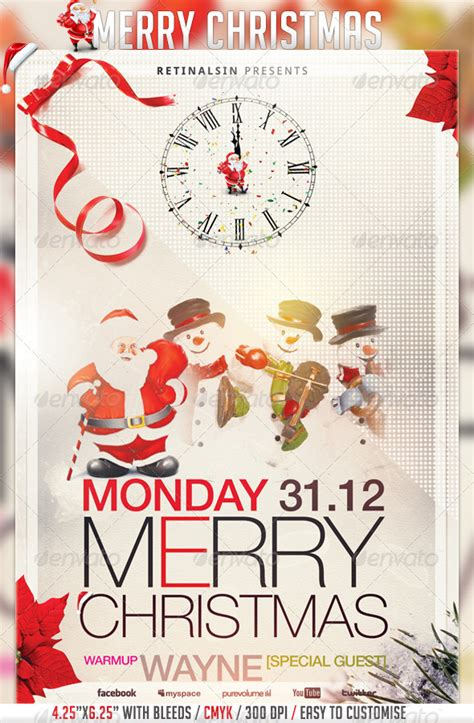 Best Christmas Flyer Templates For 2012 56pixels Com Merry Flyer Template Free