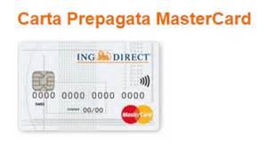 carta prepagata ing direct mastercard recensione completa