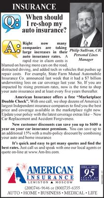 Shop Auto Insurance by Q A When Should I Re Shop My Auto Insurance American