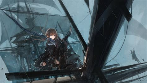 anime girl pirate wallpaper anime girls artwork bangs black dress boots brunettes