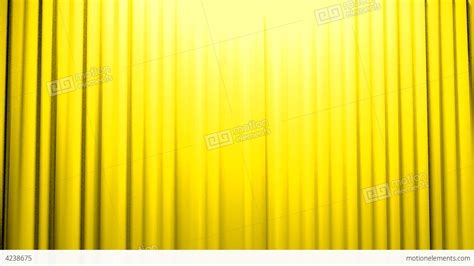 yellow curtains yellow curtains opening and closing stage theater stock