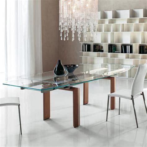 tavoli da pranzo in cristallo allungabili tavoli in cristallo allungabili top il modulo