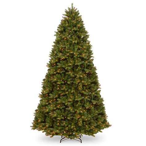 10 foot tree home depot national tree company 10 ft feel real newberry spruce hinged tree with 1500 dual color led