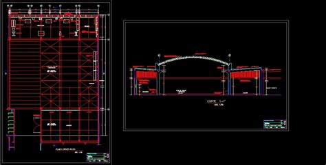 warehouse layout dwg warehouse metal roof structure design study dwg full