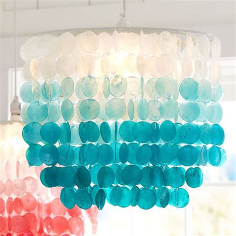 turquoise chandelier turquoise ombre capiz chandelier everything turquoise